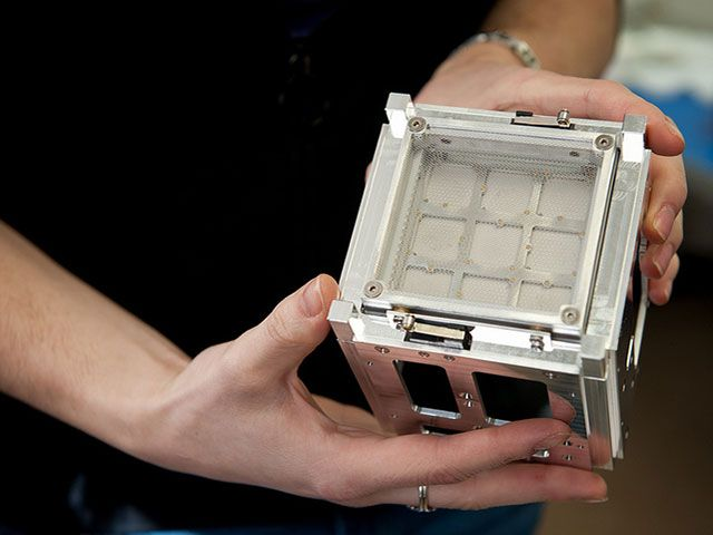 CubeSat in Human Hands